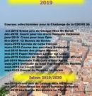 Courses comptant pour le Challenge CDCHS06 2019